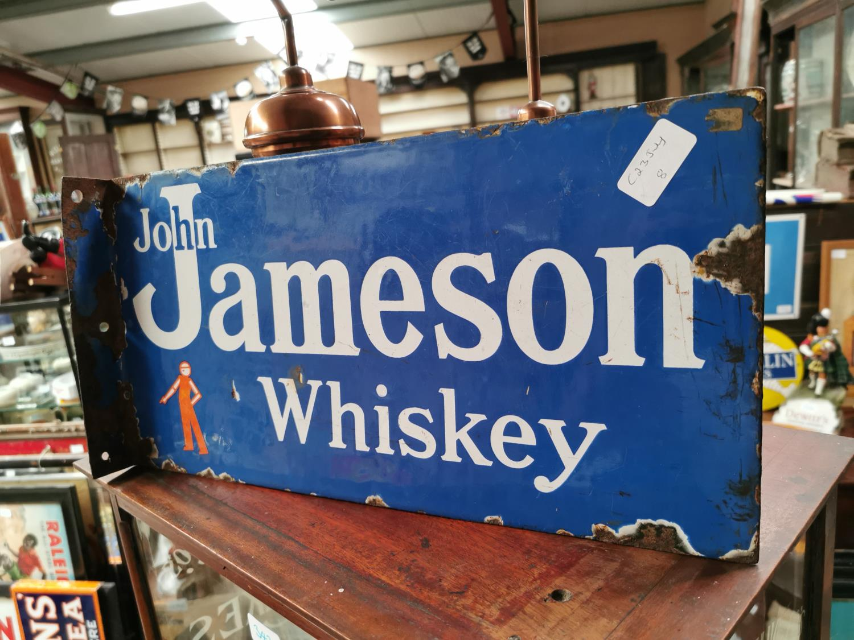 John Jameson Irish Whiskey advertising sign.