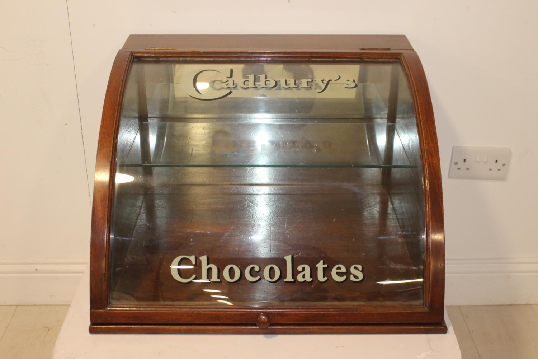 Cadbury's Chocolates advertising display cabinet.