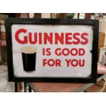 Guinness Is Good For You advertising sign.