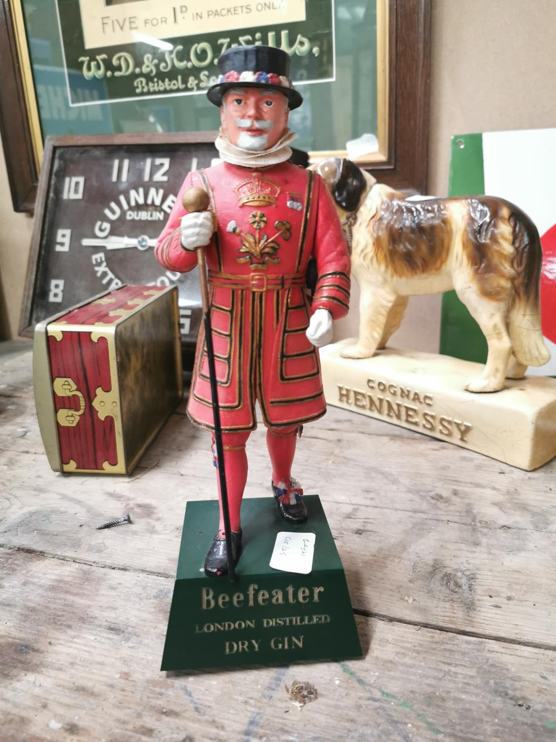 Beefeater London Dry Gin advertising figure.