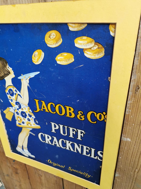 Jacob's Puff Cracknels advertising showcard. - Image 3 of 3