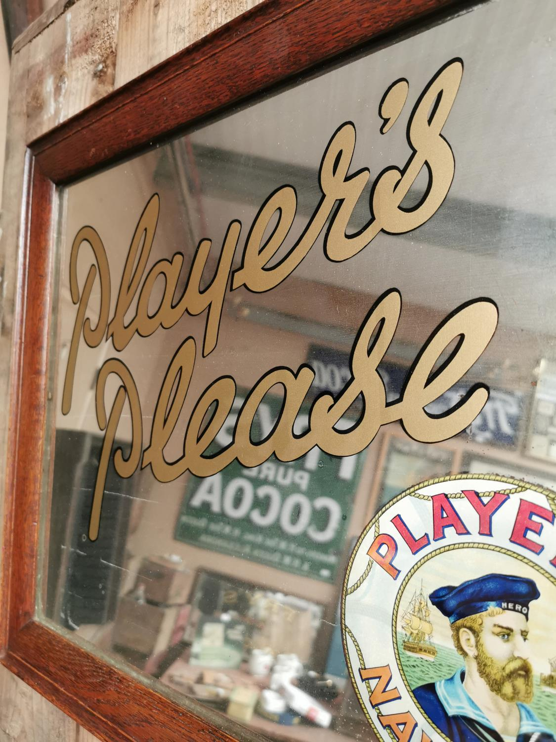 Players Please Navy Cut advertising mirror. - Image 3 of 3
