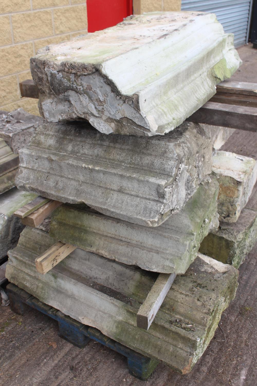 Three pallets of moulded sandstone lintels - Image 3 of 7