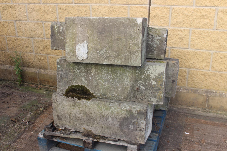 Pallet of nine sandstone blocks