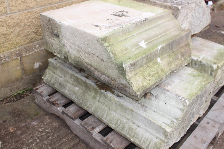 Three pallets of moulded sandstone lintels - Image 2 of 7