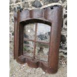 19th C. cast iron window.