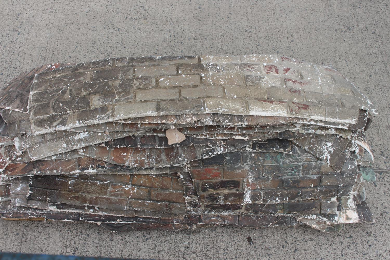 Two pallets of fibre glass plaster wall sections. - Image 2 of 5