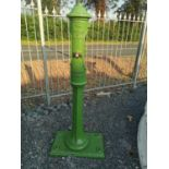 Early 20th C. cast iron weighing post