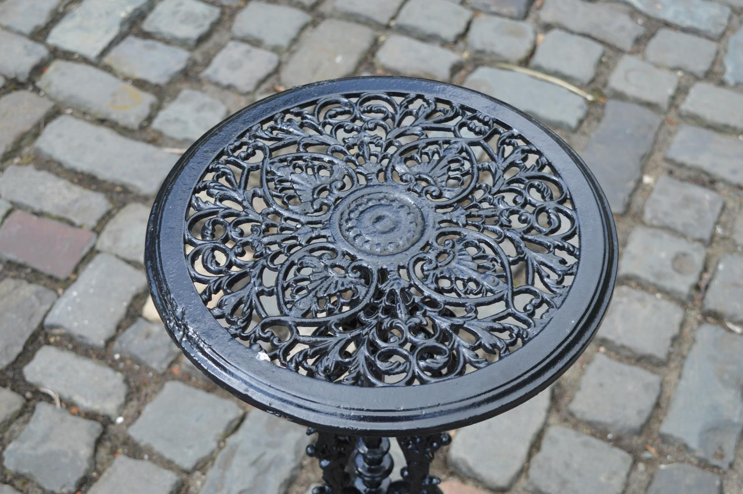 Cast iron patio drinks table - Image 2 of 2