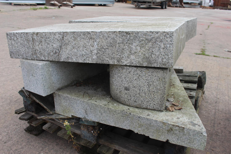 Five granite blocks - Image 2 of 2