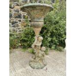 Good quality bronze fountain or planter.