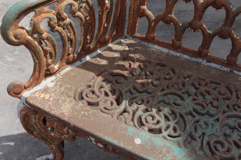 Cast iron bench - Image 2 of 6