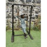 Good quality bronze model of a Girl.