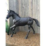 Bronze life size model of horse