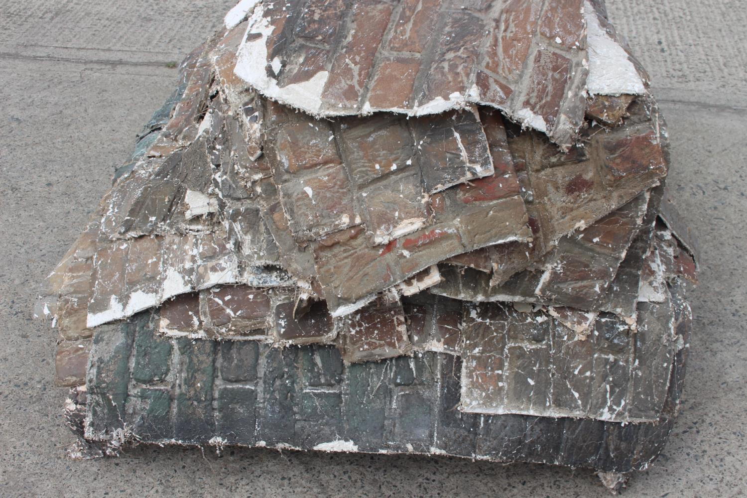 Two pallets of fibre glass plaster wall sections. - Image 5 of 5