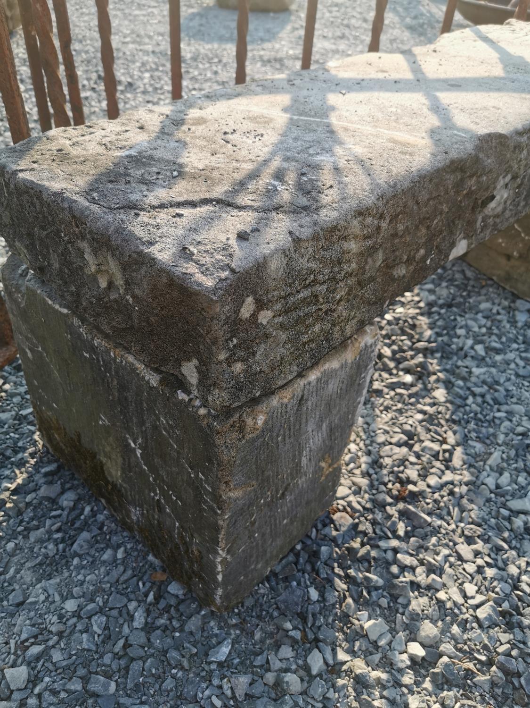 19th C. sandstone bench - Image 2 of 2