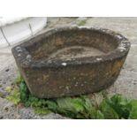 19th C. sandstone tier drop horse drinker.