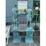 Pair of bronze figures of Greek gods