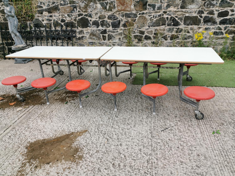Retro folding garden table and seats.