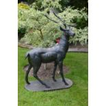 Cast iron Lifesize figure of a standing Stag