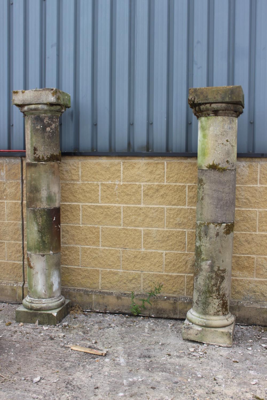 Pair of sandstone columns