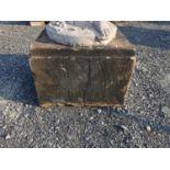 19th C. sandstone pedestal