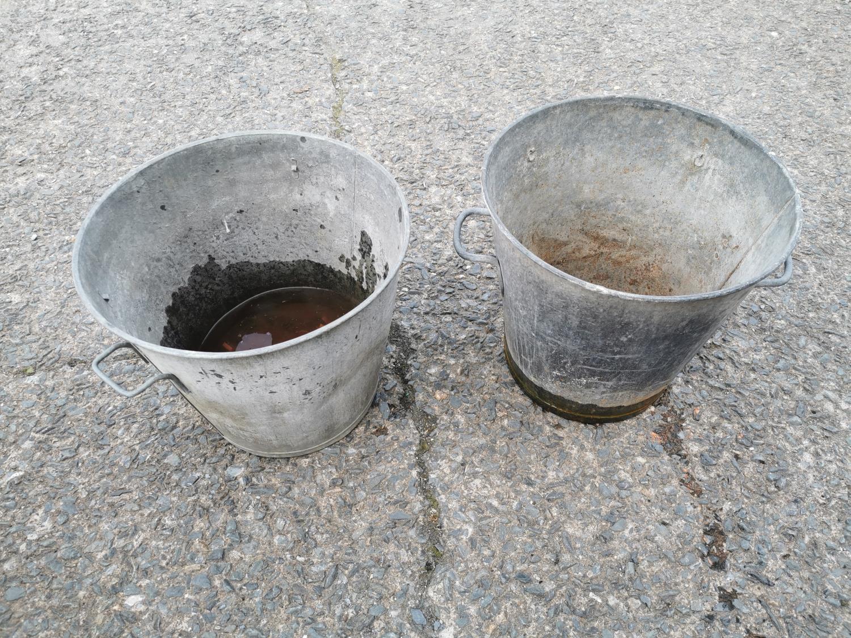 Pair of galvanised planters - Image 2 of 2