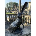Exceptional quality bronze model of Rabbits.