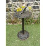 Cast iron sundial.