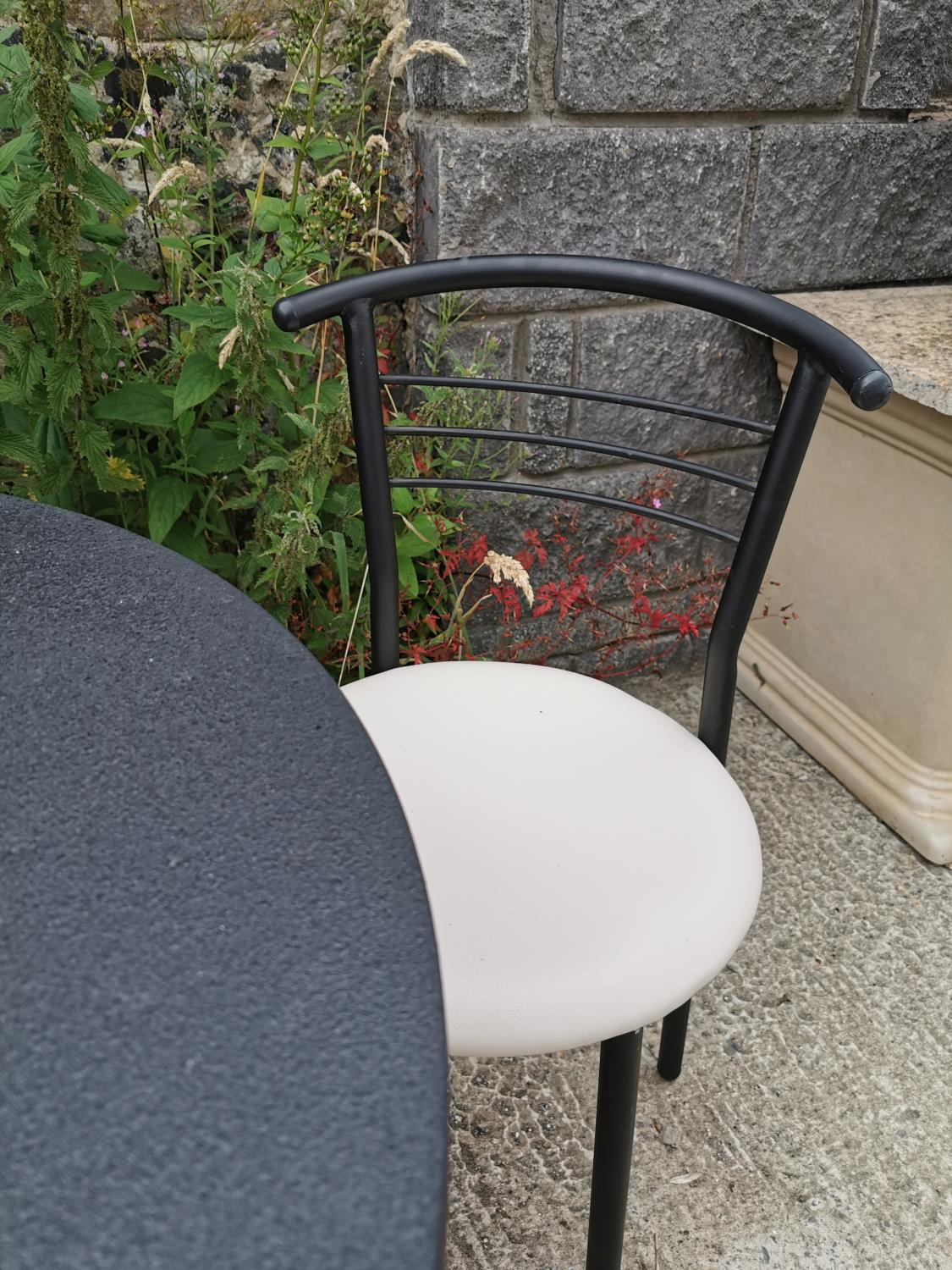 Round café table and two chairs. - Image 3 of 4