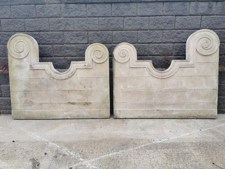Pair of resin wall panels.