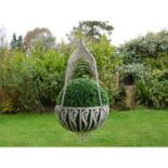 Pair of cast hanging baskets