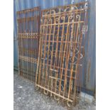 Collection of 19th C. wrought iron panels