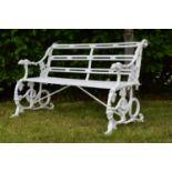 Decorative cast iron bench