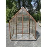 Early 20th C. metal and glass greenhouse