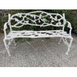 Good quality cast iron garden bench.