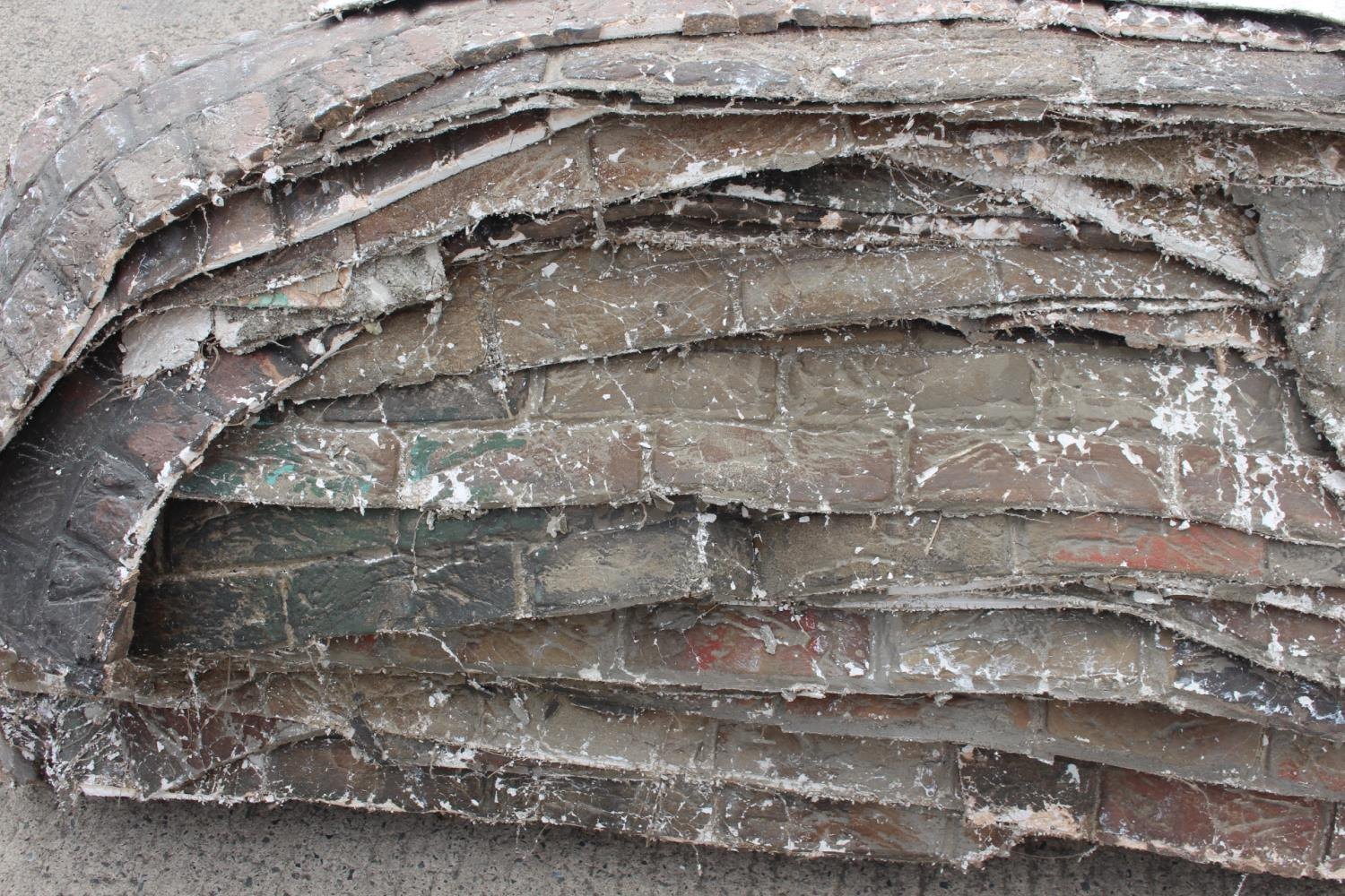 Two pallets of fibre glass plaster wall sections. - Image 4 of 5