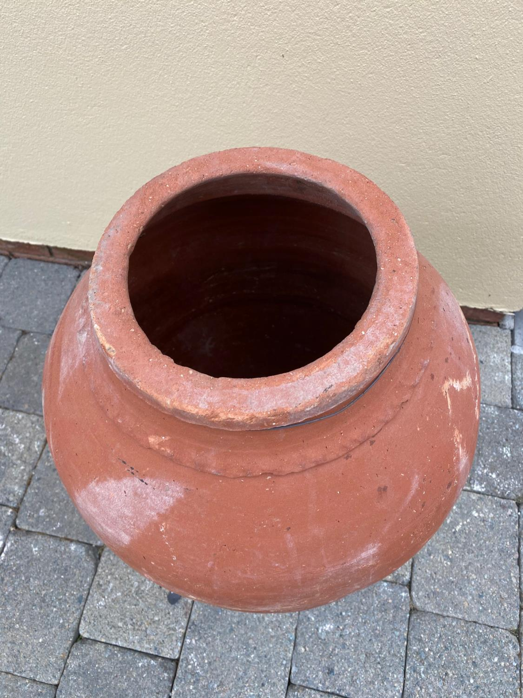 19th C. terracotta Turkish olive pot. - Image 3 of 3