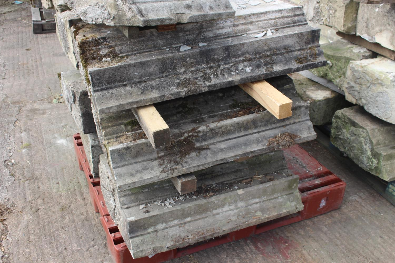 Three pallets of moulded sandstone lintels - Image 7 of 7