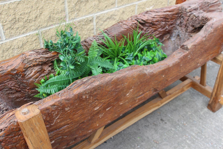 Midi'wood planter on stand - Image 3 of 4