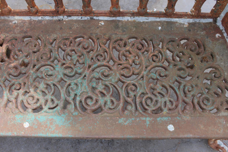 Cast iron bench - Image 6 of 6