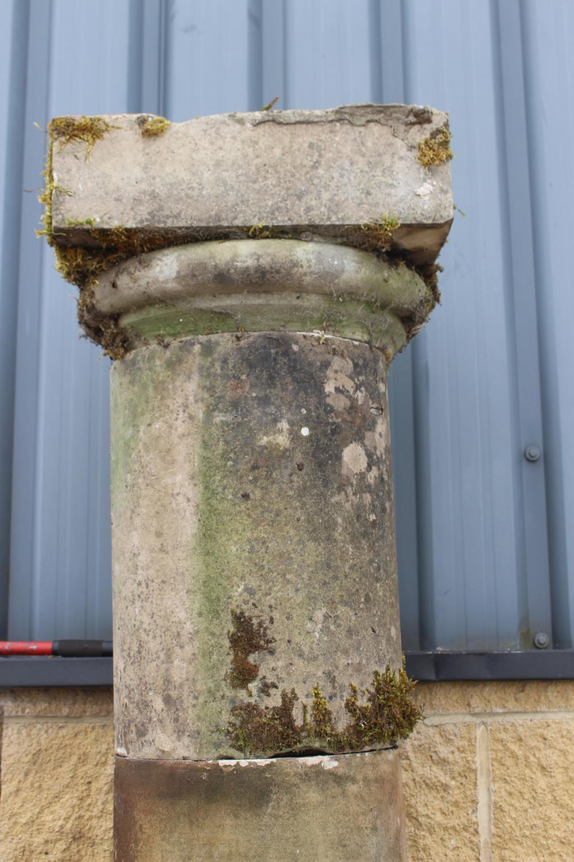 Pair of sandstone columns - Image 4 of 5