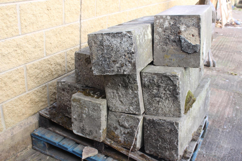 Pallet of nine sandstone blocks - Image 3 of 3