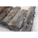 Seven pieces of bog oak