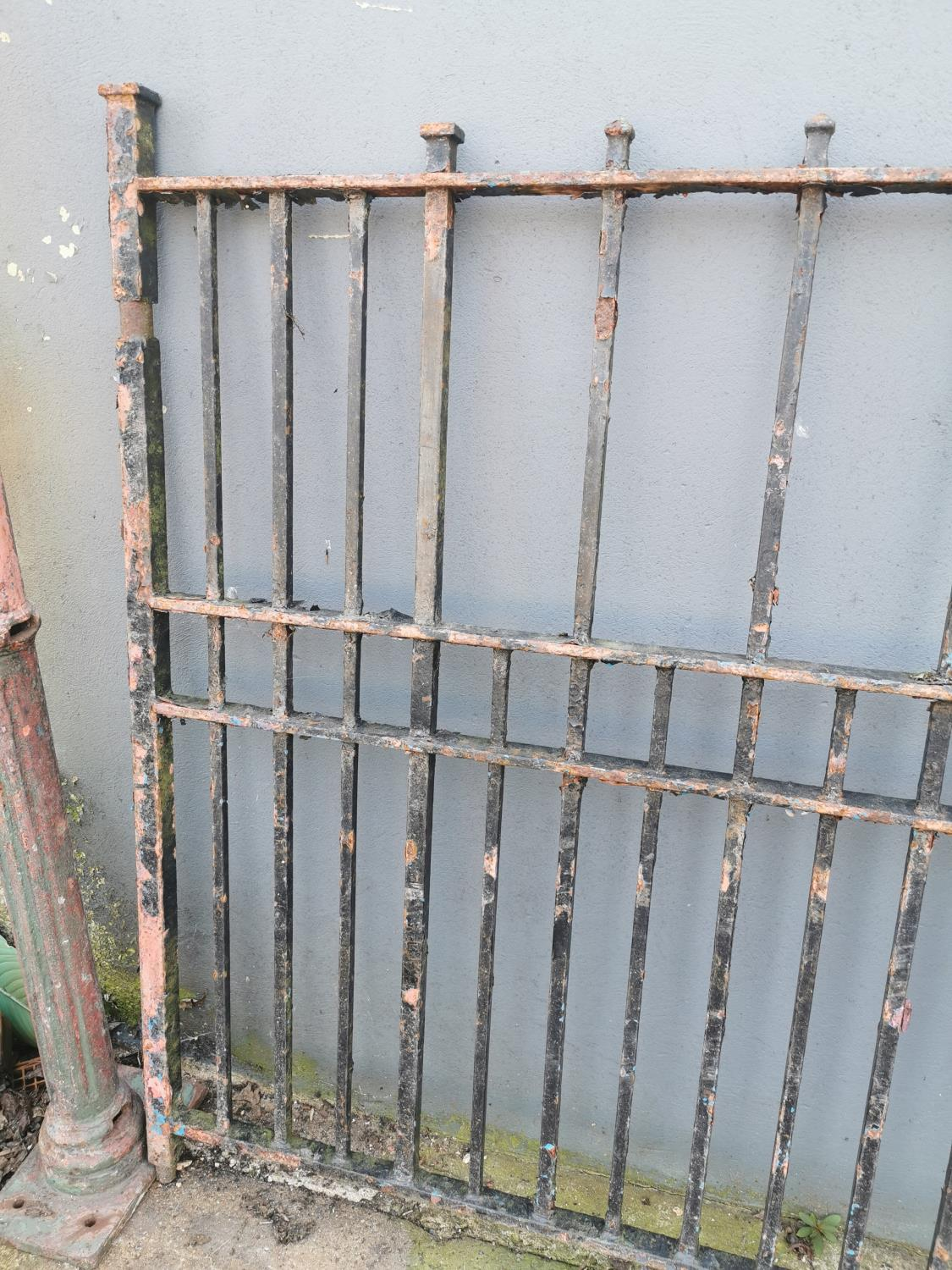 Pair of 19th C. wrought iron entrance gates - Image 3 of 3