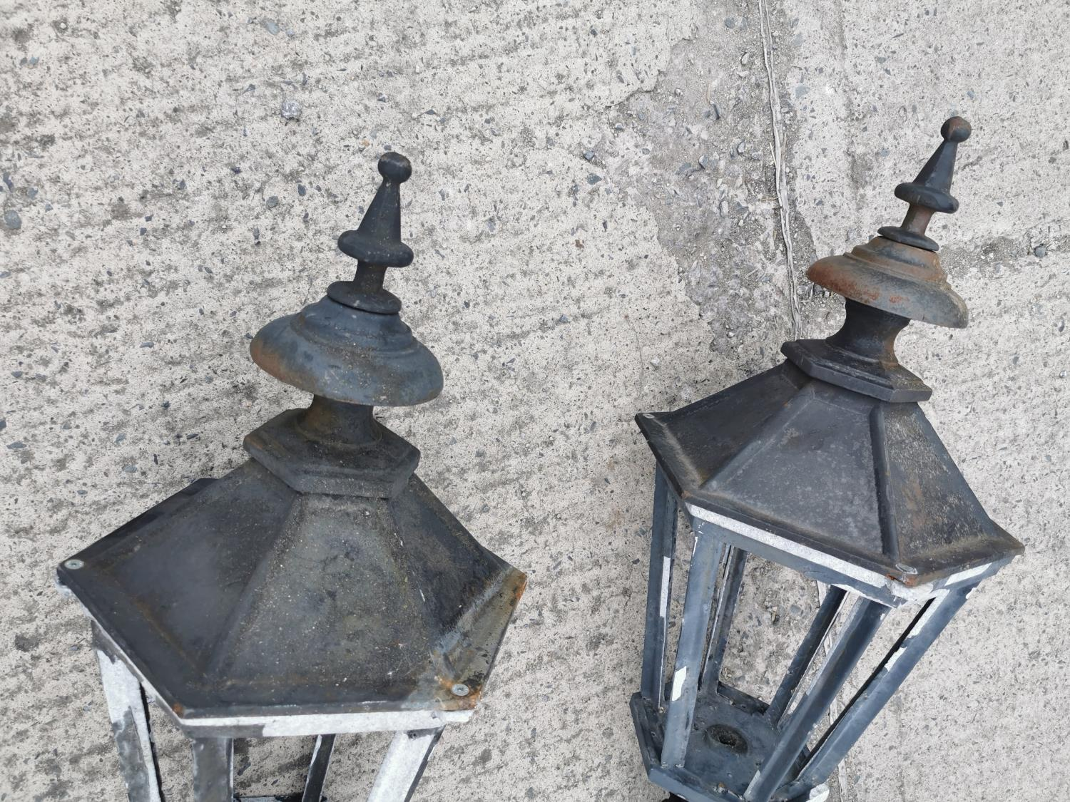 Pair of cast iron and alloy wall lights. - Image 3 of 3