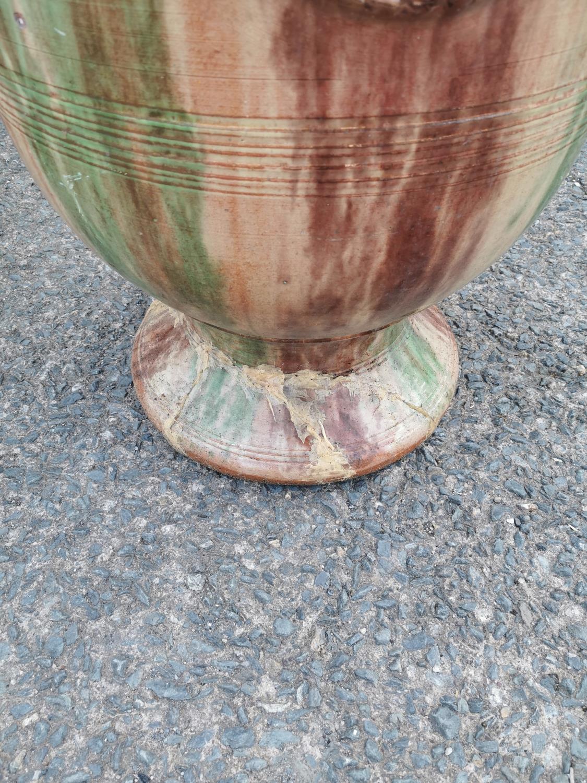 Glazed terracotta urn - Image 3 of 3