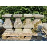 Set of four 18th C. cut limestone balustrades