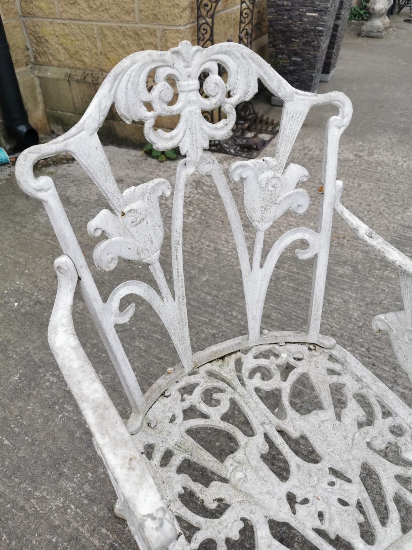 Decorative cast alloy garden chair . - Image 2 of 2