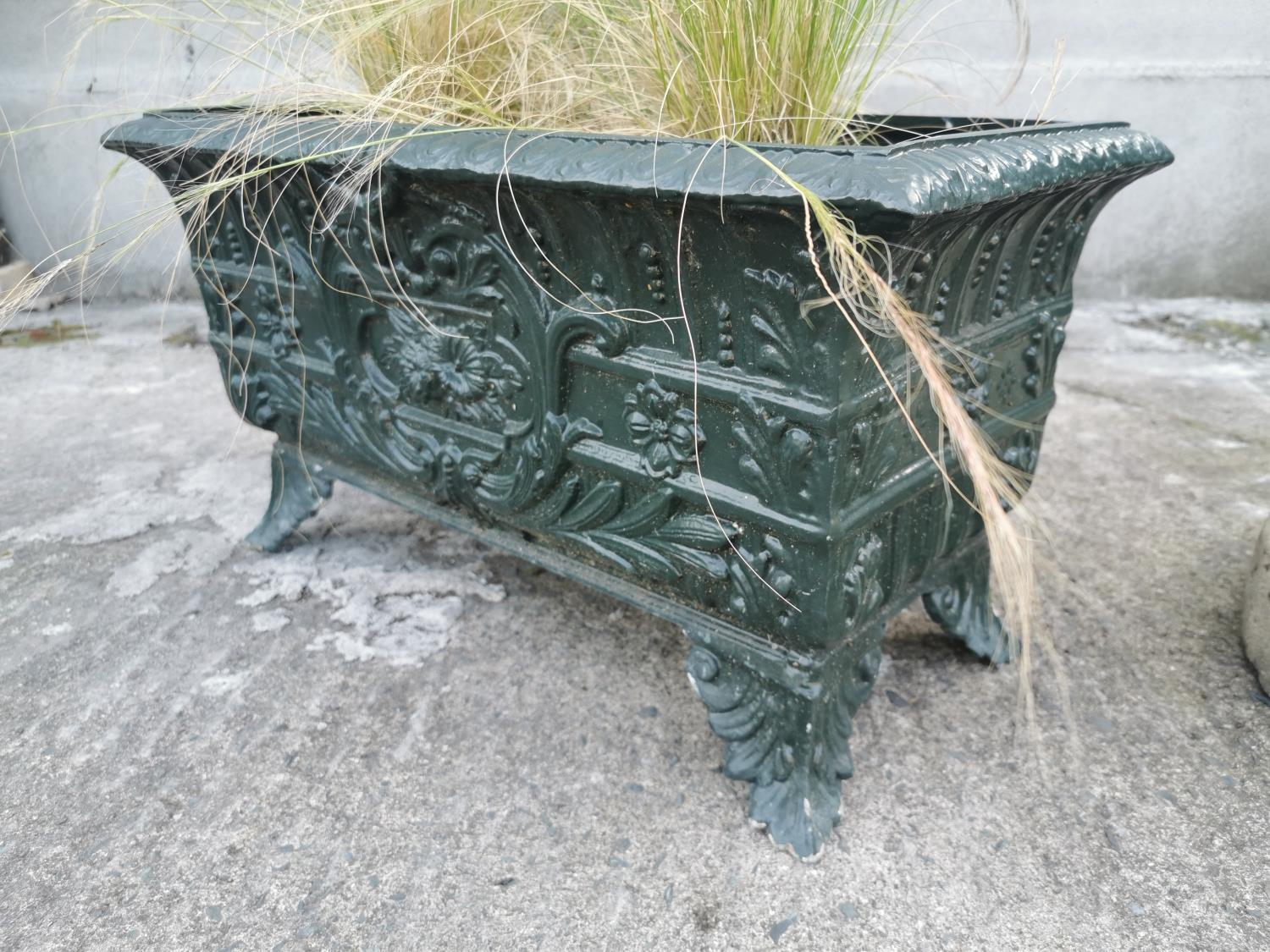 Early 20th C. cast alloy planter - Image 2 of 2